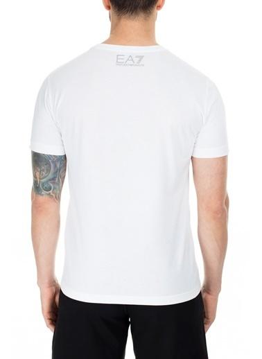 EA7 Emporio Armani  T Shirt Erkek T Shırt S 6Gpt11 Pj02Z 1100 Beyaz